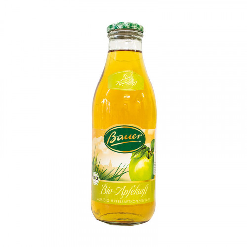 Био Ябълков сок, без захар, 980мл. 1