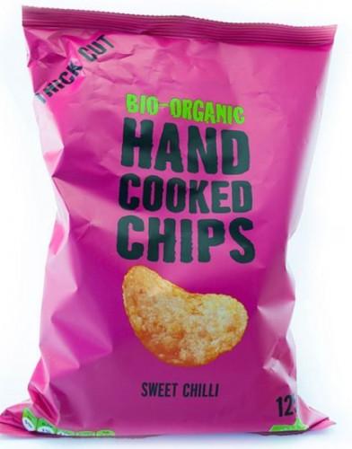 Био Ръчно приготвен картофен чипс с червен пипер 1