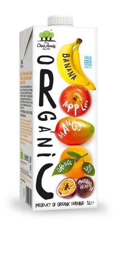 Био сок от Ябълка, Портокал, Банан, Манго и Маракуя 1
