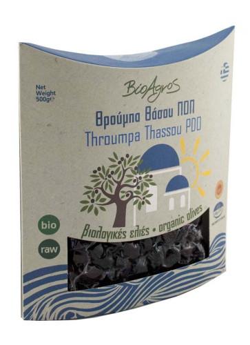 Био маслини сорт Трумба, черни, вакуум 1