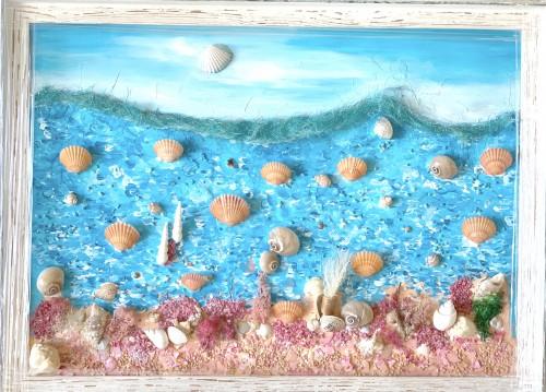 Картина Морски свят 75х55 см. 2