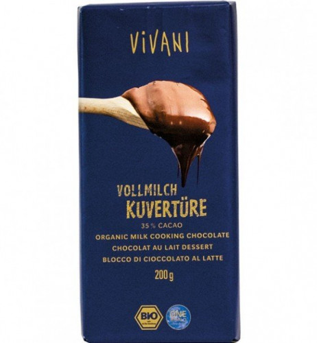Био Млечен шоколад за готвене (кувертюр) 1