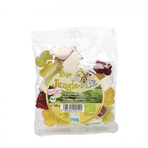 Био плодови бонбони Jungle,без захар и глутен, 100 гр. 1