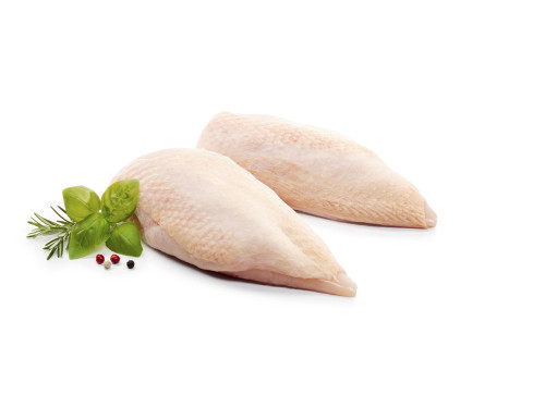 Био Пилешки гърди с кожа и кост 1