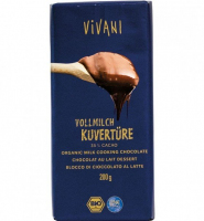 Био Млечен шоколад за готвене (кувертюр)